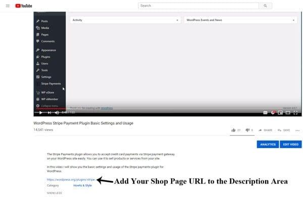Tautan Produk Pada Deskripsi Vidio Youtube